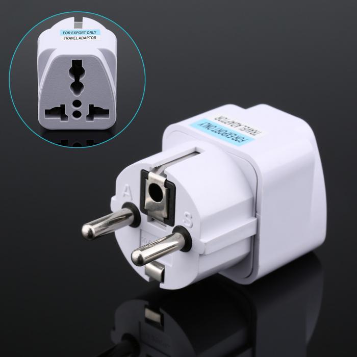 1X Travel Charger Wall AC Power Plug Adapter Converter US USA to EU Eu/_DM